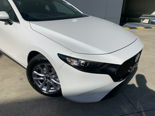 2021 Mazda 3 BP2H76 G20 SKYACTIV-MT Pure Snowflake White 6 Speed Manual Hatchback.