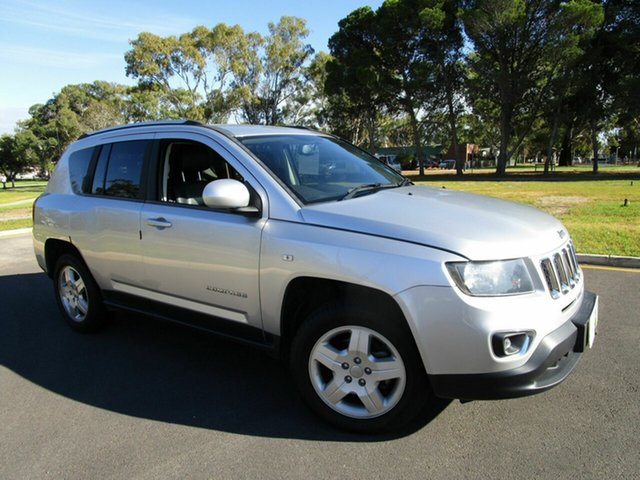 Used Jeep Compass MK MY14 North (4x2) Glenelg, 2013 Jeep Compass MK MY14 North (4x2) Silver 6 Speed Automatic Wagon