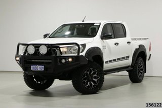 2018 Toyota Hilux GUN126R MY19 SR (4x4) White 6 Speed Automatic Double Cab Pick Up.