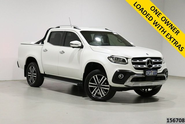 Used Mercedes-Benz X-Class 470 250d Power (4Matic) Bentley, 2018 Mercedes-Benz X-Class 470 250d Power (4Matic) Pearl White 7 Speed Automatic Dual Cab Pick-up