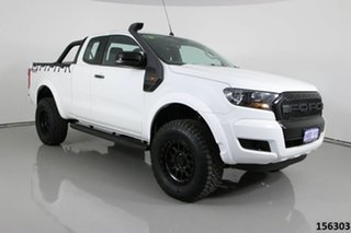 2016 Ford Ranger PX MkII XL 3.2 (4x4) White 6 Speed Manual Super Cab Utility.