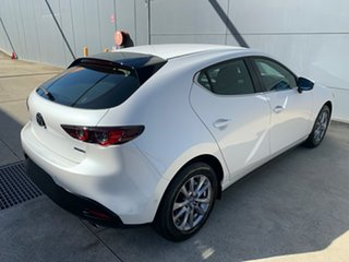 2021 Mazda 3 BP2H76 G20 SKYACTIV-MT Pure Snowflake White 6 Speed Manual Hatchback