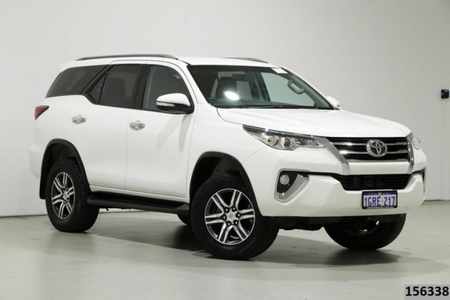Used Toyota Fortuner GUN156R GXL Bentley, 2016 Toyota Fortuner GUN156R GXL White 6 Speed Automatic Wagon