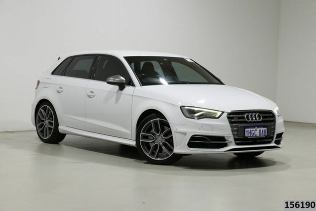 Used Audi S3 8V MY14 2.0 TFSI Quattro Bentley, 2014 Audi S3 8V MY14 2.0 TFSI Quattro White 6 Speed Direct Shift Hatchback