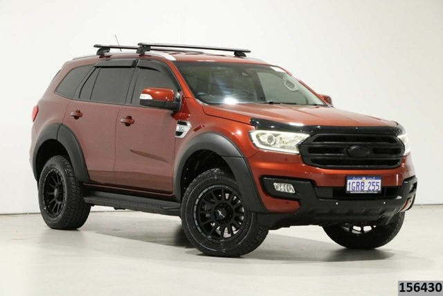 Used Ford Everest UA Trend Bentley, 2015 Ford Everest UA Trend Red 6 Speed Automatic SUV