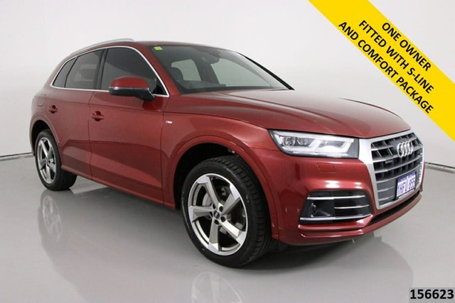 Used Audi Q5 FY MY18 2.0 TFSI Quattro Sport Bentley, 2017 Audi Q5 FY MY18 2.0 TFSI Quattro Sport Red 7 Speed Auto S-Tronic Wagon