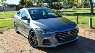 2018 Hyundai Elantra AD MY18 SR DCT Turbo Grey 7 Speed Sports Automatic Dual Clutch Sedan.