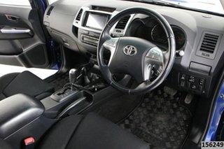 2014 Toyota Hilux KUN26R MY14 SR5 (4x4) Blue 5 Speed Automatic Dual Cab Pick-up