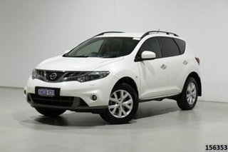 2012 Nissan Murano Z51 MY12 ST White Continuous Variable Wagon.