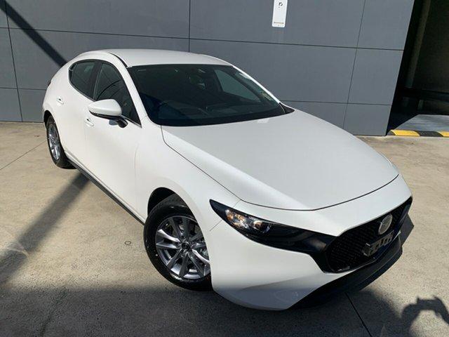New Mazda 3 BP2H76 G20 SKYACTIV-MT Pure Alexandria, 2021 Mazda 3 BP2H76 G20 SKYACTIV-MT Pure Snowflake White 6 Speed Manual Hatchback