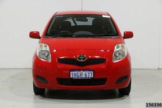 2010 Toyota Yaris NCP90R 10 Upgrade YR Red 5 Speed Manual Hatchback.