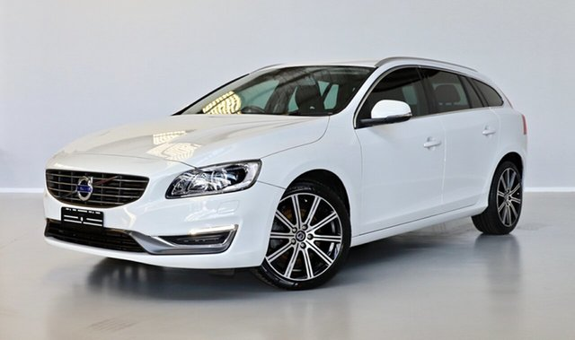 Used Volvo V60 F Series MY14 T5 PwrShift Luxury Thomastown, 2013 Volvo V60 F Series MY14 T5 PwrShift Luxury White 6 Speed Sports Automatic Dual Clutch Wagon