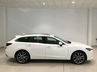 2017 Mazda 6 GL1031 GT SKYACTIV-Drive Snowflake White 6 Speed Sports Automatic Wagon.