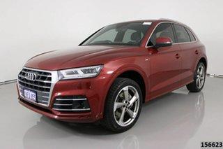 2017 Audi Q5 FY MY18 2.0 TFSI Quattro Sport Red 7 Speed Auto S-Tronic Wagon.