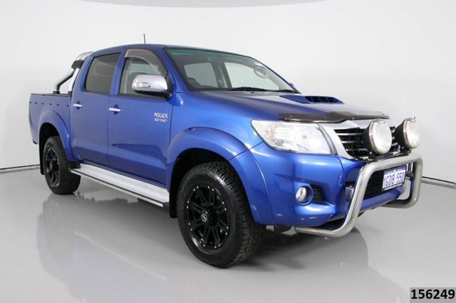 Used Toyota Hilux KUN26R MY14 SR5 (4x4) Bentley, 2014 Toyota Hilux KUN26R MY14 SR5 (4x4) Blue 5 Speed Automatic Dual Cab Pick-up