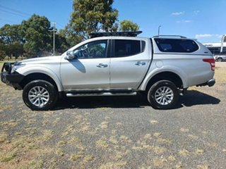 2015 Mitsubishi Triton MQ MY16 GLS Double Cab Silver 6 Speed Manual Utility.