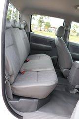 2010 Toyota Hilux KUN16R MY10 SR 4x2 Glacier White 5 Speed Manual Dual Cab