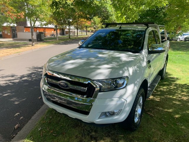 Used Ford Ranger PX MkII XLT Super Cab 4x2 Hi-Rider Launceston, 2016 Ford Ranger PX MkII XLT Super Cab 4x2 Hi-Rider White 6 Speed Sports Automatic Utility