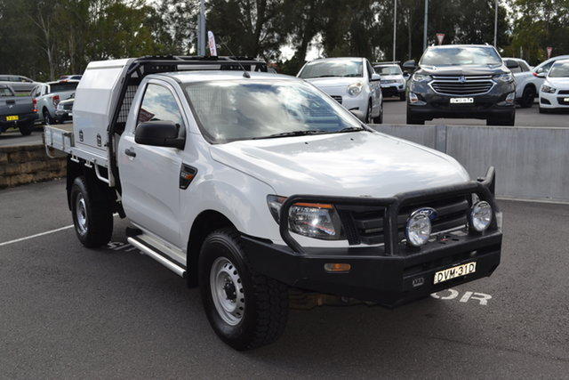Used Ford Ranger PX XL Maitland, 2012 Ford Ranger PX XL White 6 Speed Manual Cab Chassis