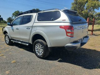 2015 Mitsubishi Triton MQ MY16 GLS Double Cab Silver 6 Speed Manual Utility