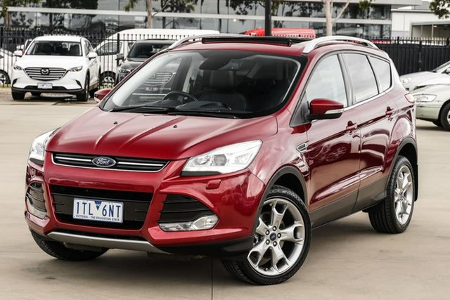 Used Ford Kuga TF MY16.5 Titanium PwrShift AWD Narre Warren, 2016 Ford Kuga TF MY16.5 Titanium PwrShift AWD Red 6 Speed Sports Automatic Dual Clutch Wagon