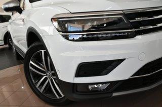2020 Volkswagen Tiguan 5N MY21 162TSI Highline DSG 4MOTION Allspace Pure White 7 Speed.