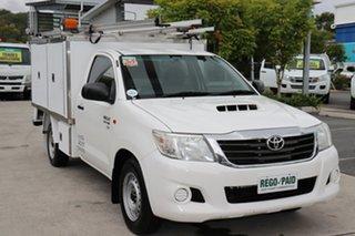 2013 Toyota Hilux KUN16R MY12 SR 4x2 Glacier 5 speed Manual Cab Chassis.