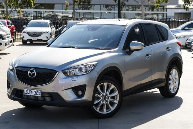 Used Mazda CX-5 KE1021 MY13 Grand Touring SKYACTIV-Drive AWD Narre Warren, 2013 Mazda CX-5 KE1021 MY13 Grand Touring SKYACTIV-Drive AWD Silver 6 Speed Sports Automatic Wagon