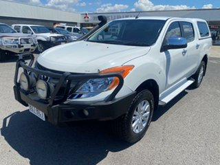 2013 Mazda BT-50 UP0YF1 GT White 6 Speed Sports Automatic Utility