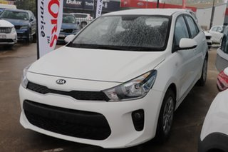 2019 Kia Rio YB MY20 S White 4 Speed Sports Automatic Hatchback.