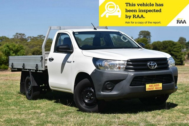 Used Toyota Hilux TGN121R Workmate 4x2 Melrose Park, 2016 Toyota Hilux TGN121R Workmate 4x2 White 5 Speed Manual Cab Chassis