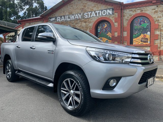 Used Toyota Hilux GUN126R SR5 Double Cab Cheltenham, 2017 Toyota Hilux GUN126R SR5 Double Cab Silver 6 Speed Sports Automatic Utility