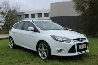2012 Ford Focus LW MkII Titanium PwrShift White 6 Speed Sports Automatic Dual Clutch Hatchback