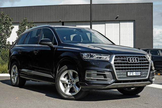 Used Audi Q7 4M MY16 TDI Tiptronic Quattro Essendon Fields, 2016 Audi Q7 4M MY16 TDI Tiptronic Quattro Black 8 Speed Sports Automatic Wagon
