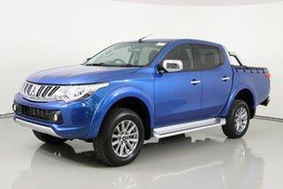2018 Mitsubishi Triton MQ MY18 GLS (4x4) Blue 5 Speed Automatic Dual Cab Utility.