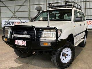 2005 Toyota Landcruiser HZJ105R Standard White 5 Speed Manual Wagon.