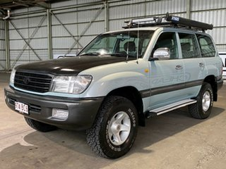 2001 Toyota Landcruiser FZJ105R 50th Anniversary GXL Blue 4 Speed Automatic Wagon.
