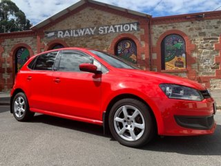 2010 Volkswagen Polo 6R 66TDI DSG Comfortline Red 7 Speed Sports Automatic Dual Clutch Hatchback