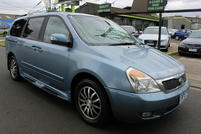 Used Kia Grand Carnival VQ MY12 Platinum West Footscray, 2011 Kia Grand Carnival VQ MY12 Platinum Blue 6 Speed Sports Automatic Wagon