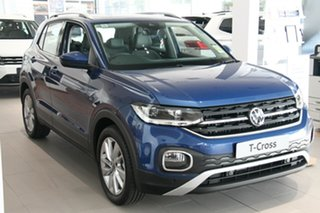 2020 Volkswagen T-Cross C1 MY21 85TSI DSG FWD Style Blue 7 Speed Sports Automatic Dual Clutch Wagon.