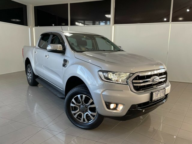 Used Ford Ranger PX MkIII 2019.00MY XLT Hi-Rider Deer Park, 2018 Ford Ranger PX MkIII 2019.00MY XLT Hi-Rider Silver 10 Speed Sports Automatic Utility