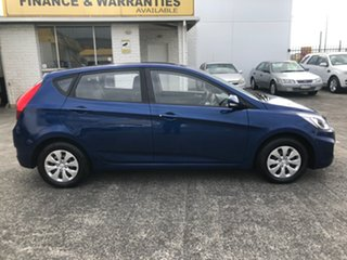 2015 Hyundai Accent RB3 MY16 Active Blue 6 Speed Constant Variable Hatchback.