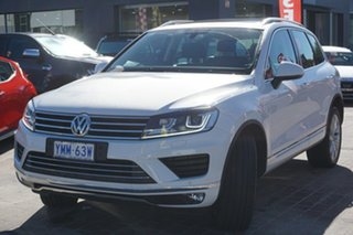 2016 Volkswagen Touareg 7P MY16 V6 TDI Tiptronic 4MOTION Pure White 8 Speed Sports Automatic Wagon