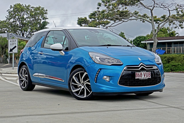 Used Citroen DS3 MY15 DSport Capalaba, 2014 Citroen DS3 MY15 DSport Noir Onyx 6 Speed Manual Hatchback
