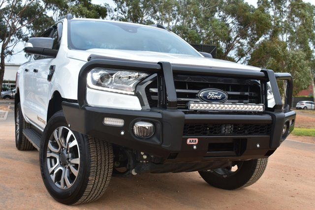 Used Ford Ranger PX MkIII 2019.00MY Wildtrak St Marys, 2018 Ford Ranger PX MkIII 2019.00MY Wildtrak White 10 Speed Sports Automatic Utility