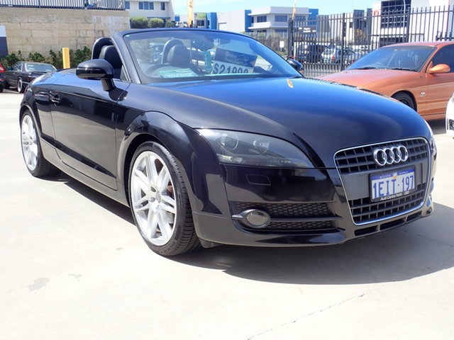 Used Audi TT 8J 2.0 TFSI Wangara, 2007 Audi TT 8J 2.0 TFSI Absolute Black 6 Speed Direct Shift Roadster