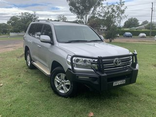 2016 Toyota Landcruiser VDJ200R GXL Silver Pearl 6 Speed Sports Automatic Wagon.