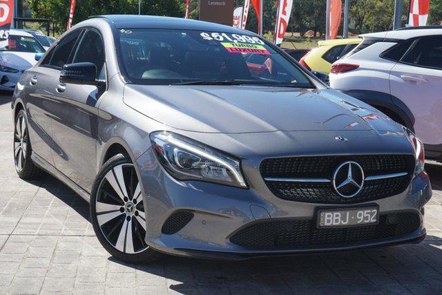 Used Mercedes-Benz CLA-Class C117 808+058MY CLA200 DCT Phillip, 2018 Mercedes-Benz CLA-Class C117 808+058MY CLA200 DCT Grey 7 Speed Sports Automatic Dual Clutch
