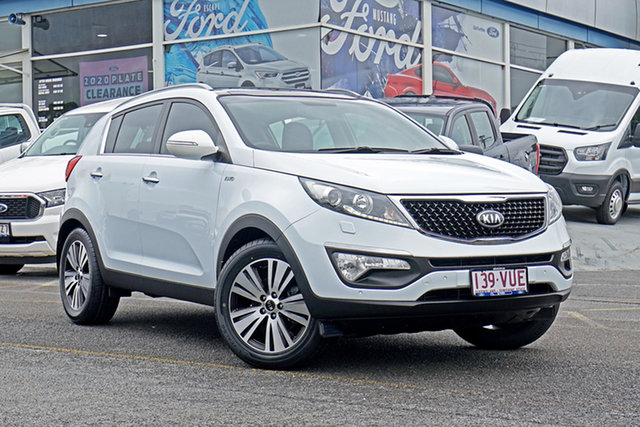 Used Kia Sportage SL MY15 Platinum AWD Springwood, 2015 Kia Sportage SL MY15 Platinum AWD White 6 Speed Sports Automatic Wagon