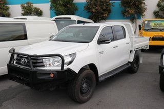 2017 Toyota Hilux GUN126R SR Double Cab Glacier 6 speed Automatic Cab Chassis.